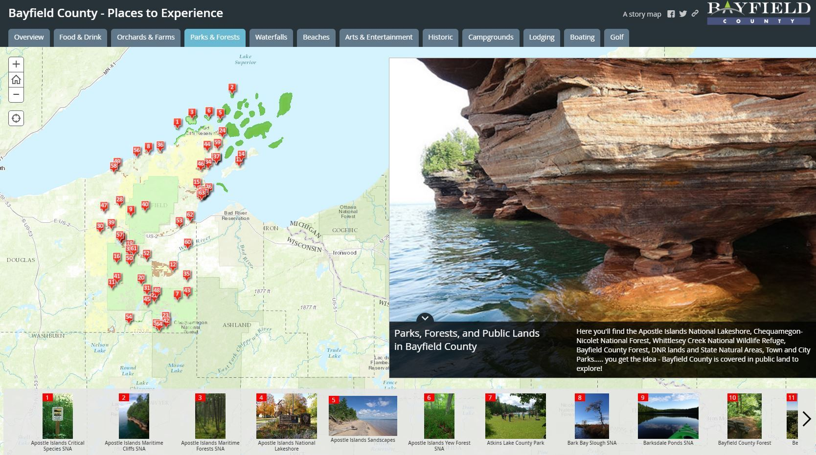 Bayfield County Story Map