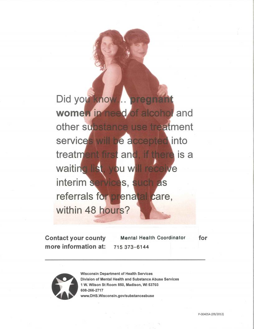 Pregnant Women in Need of Substance Use Treatment Flyer