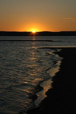 Sunset on a Lake Superior Beach