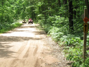 Riding ATVs Down the Chequamegon Loop